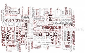 Wordle of the Wonderful Life blog (29/1/09)