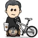 Grumpy Bob likes coffee and bikes!