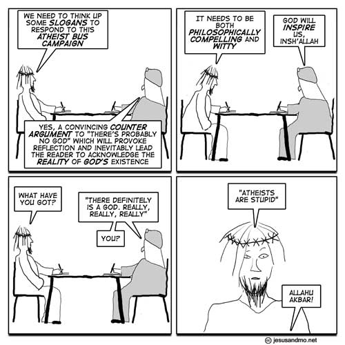 Jesus and Mo and the atheist bus
